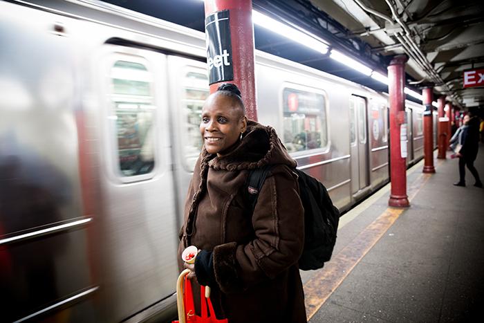 Liz at the subway