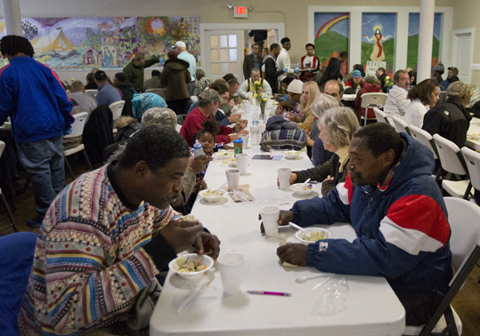 Lunch time at the Triune Mercy Center