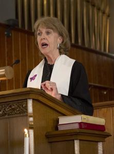 Deb Richardson-Moore preaching