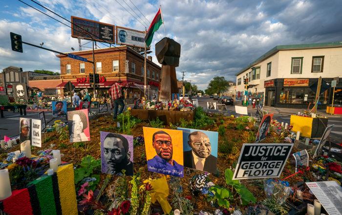 Memorial for George Floyd outside Cup Foods in Minneapolis