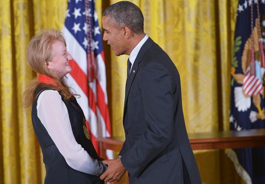 Krista Tippett and President Obama