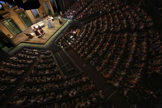 Overheard shot of a performance of Così fan tutte, 2012