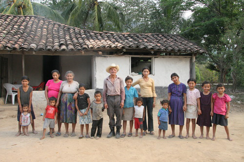 People in a village in Honduras